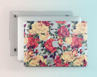 Roses Flower Macbook Case Floral Mac Macbook  Inch Macbook Air  Flower Case For Laptop