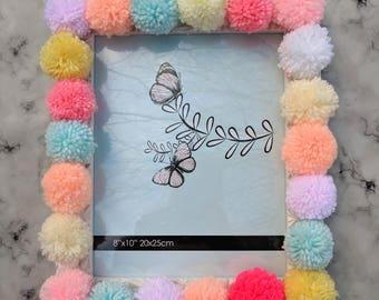 Frida Photo Frame - fun pom pom picture frame by LovePomela gift for her