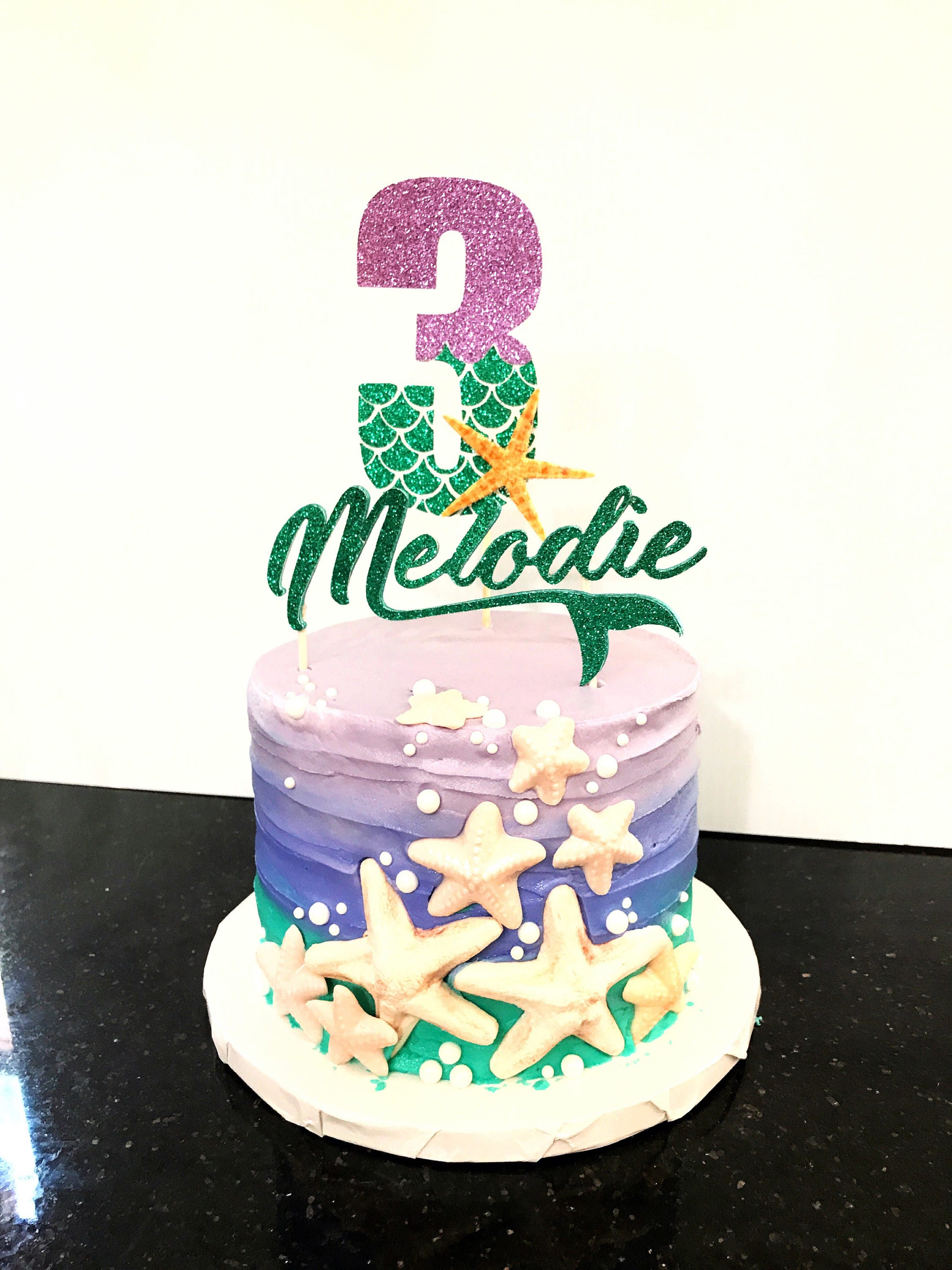 Cake Decoration Items Names : Mermaid Cake Topper / Under the Sea Cake Decorations / Name