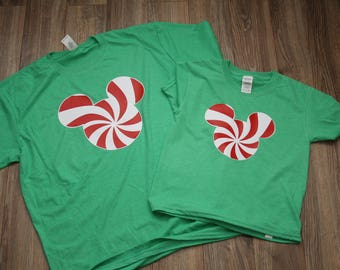 Mickey Christmas shirt | Mickey Tshirt | Mickey Holiday Shirt | Mickey's Very Merry Christmas Party Tshirt | MIckey Candy cane shirt