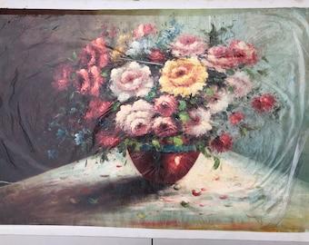 "24""*36"", Flowers, Oil painting, Canvas Art, Original Art, Modern Art, Wall Decor,original oil painting, handcraft, #F8"