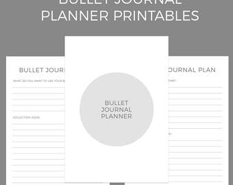 Bullet Journal Planner Printables A4 and US Letter Size