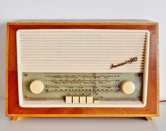 original 60's tube radio Weimar 4960 tube radio 60 s