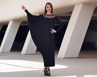 Maxi Dress, Black Maxi Dress, Long Sleeve Dress, Summer Dress, Long Dress, Plus Size Dress, Plus size maxi dress, Oversize dress by Markiiza