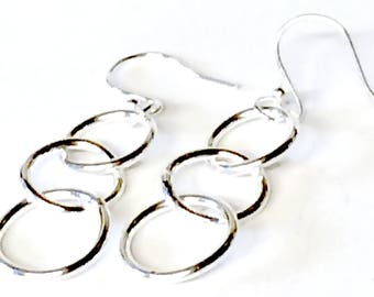Linked Ring Drop Earrings