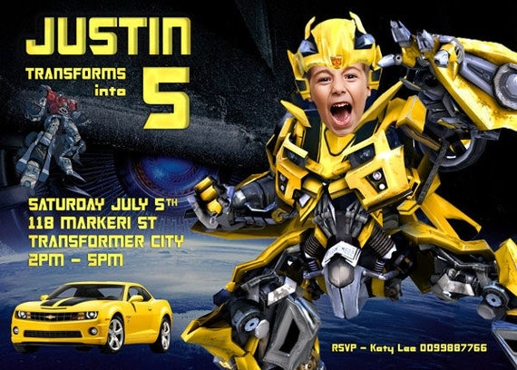 Transformers Invitation Robot Printable Invitation