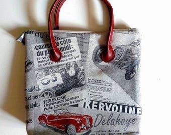 Craft bag, Vintage newspaper print