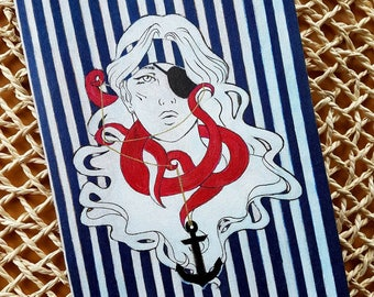 A5 Hand illustrated sketchbook- Nautical