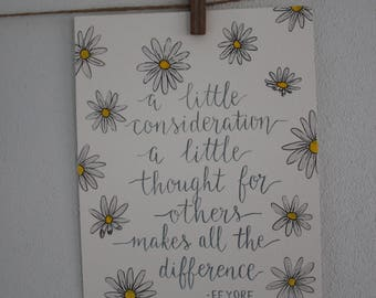Quote Calligraphy Finetec Flowers Daisies Handlettering Writing