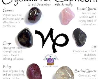 Capricorn Birthstones Crystal Set