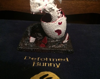OOAK hand made hatching dragon in egg inspired by the Screaming Death (HtTYD)