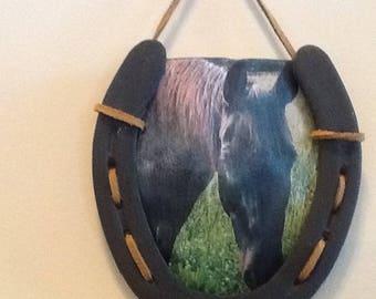 Personalized photo frame, Horseshoe photo frame