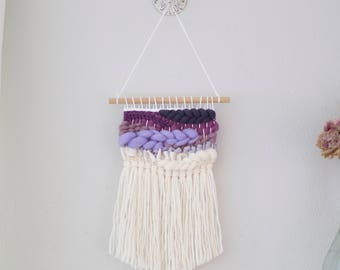 Purple Ombre wall hanging \ fiber wall hanging \ MTO \ woven wall hanging \ handwoven wall art \ purple nursery decor \ purple home decor