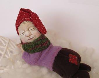 Small Gnome textile toy