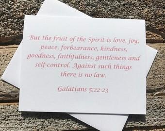 Galatians 5:22-23 Bible Verse Note Card