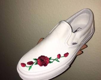 rose slip on vans