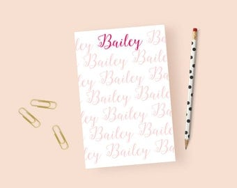 Personalized Stationery Notepad, Personalized Notepad for Women, Personalized Stationary Notepad Custom, Calligraphy Notepad, 5.5 x 8.5