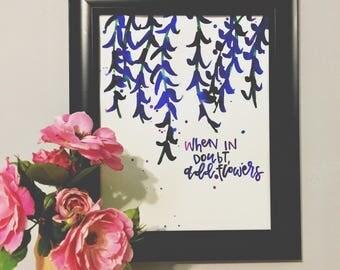 Add Flowers 8x10 Watercolor