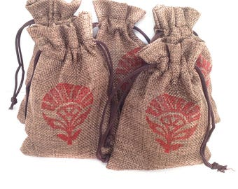 Gift pouch Favor gift bags Drawstring pouch Hessian Jute Bag Hessian pouch Drawstring bag Burlap favour bags Jute gift bags