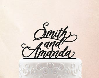 First Names Wood Cake Topper - Wedding Cake Topper Rustic Cake Toppers for wedding, Custom Cake Toppers for Wedding 26