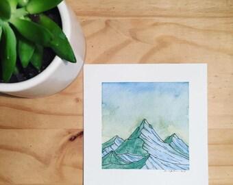Pastel Sky (Original Watercolor)