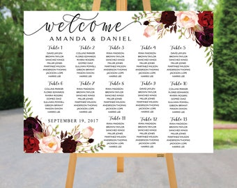 Wedding Seating Chart, Poster wedding, Seating Chart, Wedding seating chart alphabet, Wedding seating chart template, Find Your Seat, C25-03