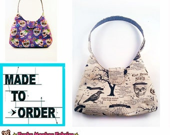 MADE TO ORDER- Choose your Fabric -small shoulder bag- Ladies purse- Childs purse- Gift for her-Purse, Fabric Handbag, Shoulder bag, Teen