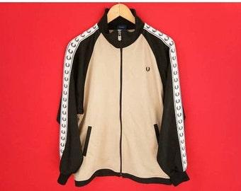 vintage Fred perry stripe logo jacket medium mens