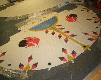 A individualized Tipibemalung on Tipis from our workshop