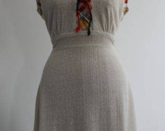 Vintage 1970s Cheesecloth Sun Dress