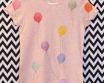 T-SHIRT balloons 3-4 years organic organic fair wear cat