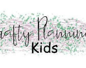 Kids Personalised Sticker Sheet Request Planner Stickers Kids Stickers