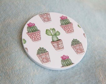 Unique Cactus Pocket Mirror ~ Kawaii, Cute, Stylish