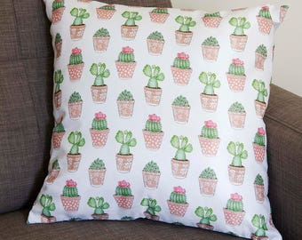 Unique Cactus Pattern Pillow ~ Kawaii, Cute, Stylish