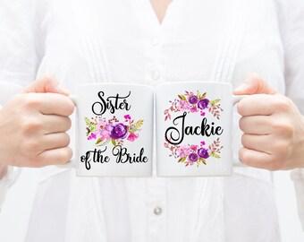 Sister Of The Bride Gift,Sister Of The Bride Mug,Wedding Gift For Sister,Wedding Mugs,Custom Wedding Mugs,Wedding Party Mugs,Sister Gift