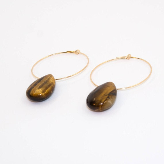 TIGER EYE hoops