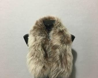 Genuine Real Beige Fox Fur Small Collar