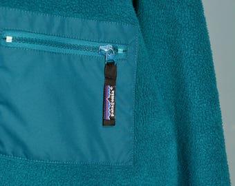 Patagonia Sweater Synchilla Full Zip Fleece Blue Jacket Men's Size M