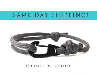 CORD Bracelet Mens Surf Bracelet Paracord Bracelet Men Sailing Bracelet Nautical Bracelet Guy Sailor Bracelet Surfing Bracelet 550 Paracord
