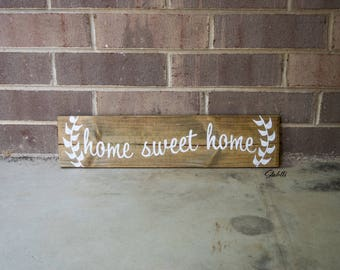 Home Sweet Home Sign, Home Sweet Home, Home Sign, Recycled Wooden Sign, Reclaimed Wooden Sign, Rustic Sign, Farmhouse Sign, Wood Sign, Home