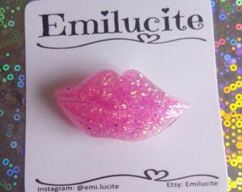 Pink Lips Brooch