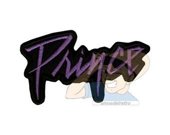 Prince Word Logo Embroidered Patch Purple Rain Pop Rock
