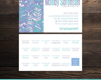 Boho Business Card | Feather Business Card | Size Business Card | LuLaRoe Business Card | Approved Colors and Fonts | LLR Size Card |