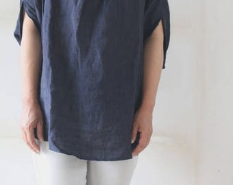 linen dolman blouse MADE IN JAPAN