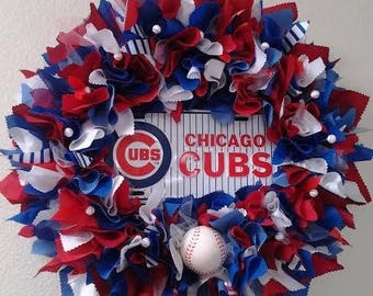 Go Cubs Go Cloth Wreath