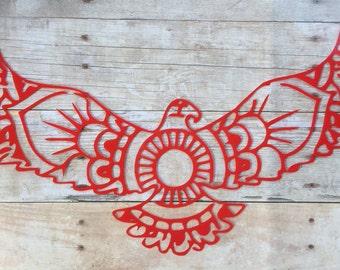 Flying Eagle Wings Mandala Vinyl Decal