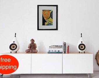 """Acrylbild, Malerei, Gemälde, Abstrakt, """"Home"""", acrylic painting, Acryl auf Leinwand, Original, Zeitgenössische Kunst, Modern, Handgefertigt"""