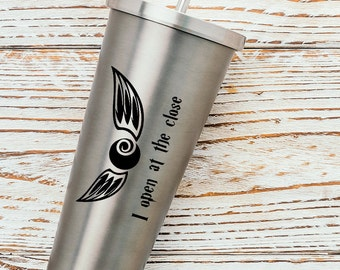 Free Shipping - Open at the Close - Harry Potter Snitch - Vinyl Decal