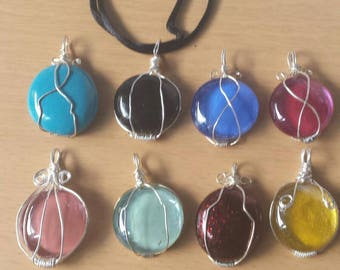Wrapped Glass  Pendant