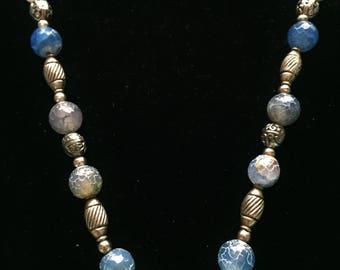 Silver Necklace / Beaded Necklace / Art Deco Necklace  / Statement Necklace / Handmade Necklace / Boho Necklace / Women's Gift Idea